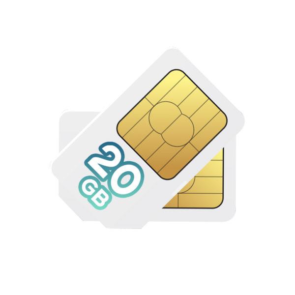 CHIP 20GB 600x600 - SOFTBANK 20GB WITH PHONE